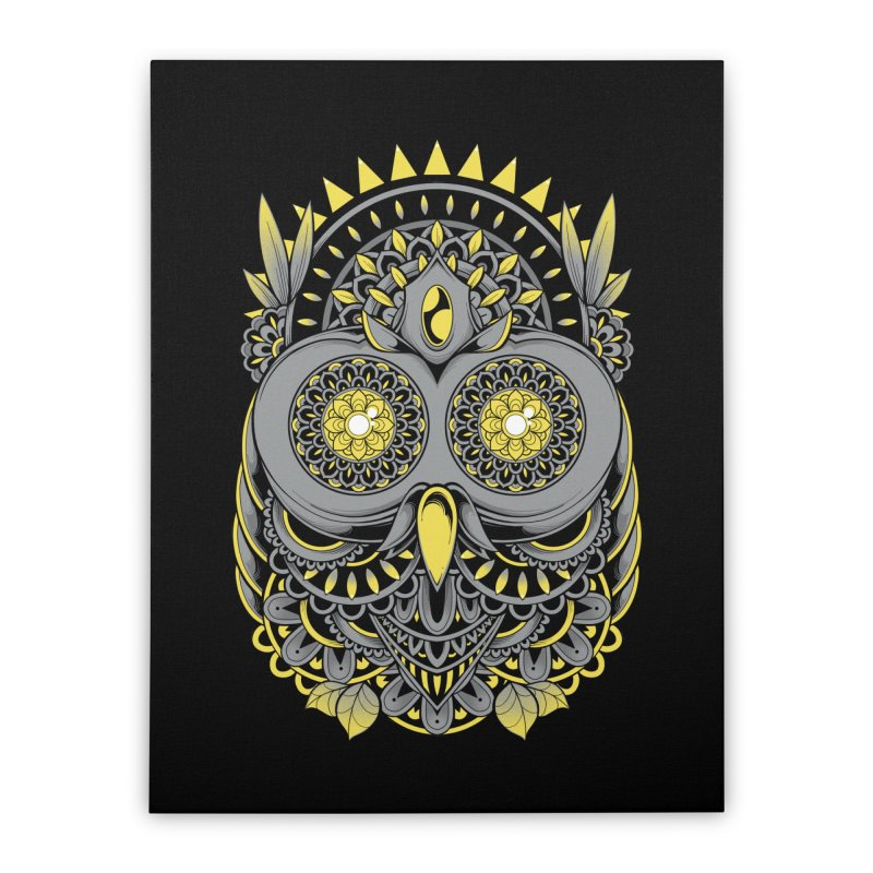 Golden Owl Home Stretched Canvas by godzillarge's Artist Shop