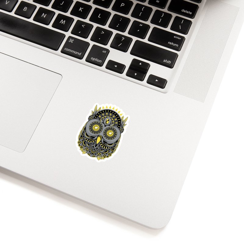 Golden Owl Accessories Sticker by godzillarge's Artist Shop