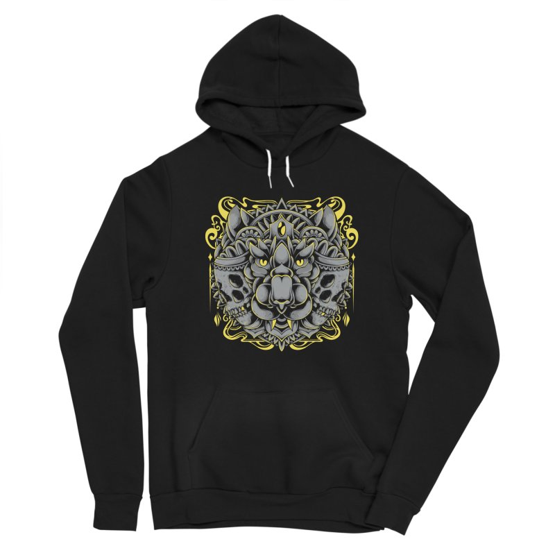 Ghost Tiger Men's Pullover Hoody by godzillarge's Artist Shop