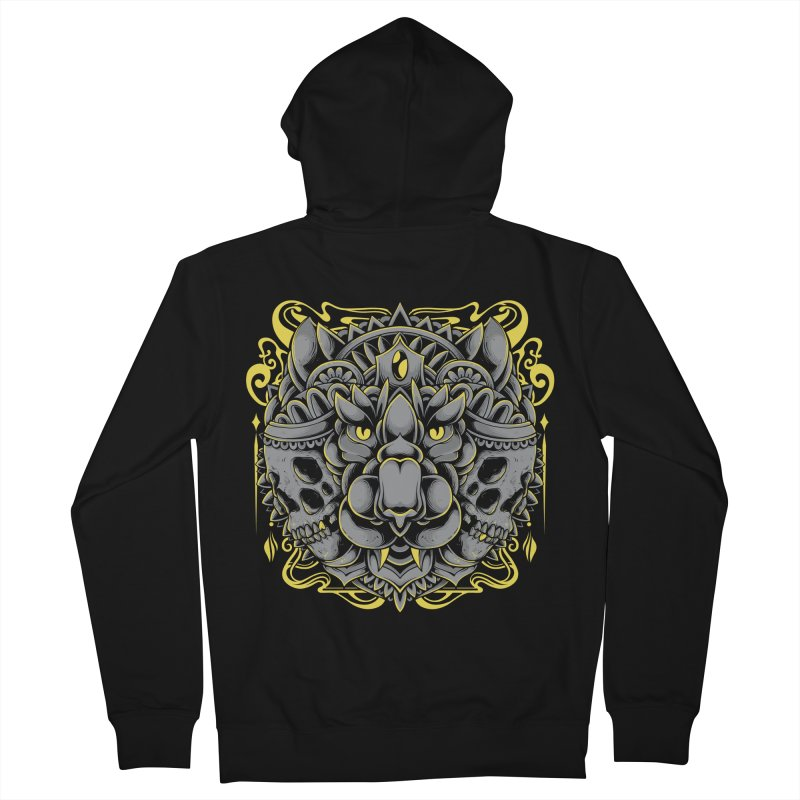 Ghost Tiger Men's Zip-Up Hoody by godzillarge's Artist Shop