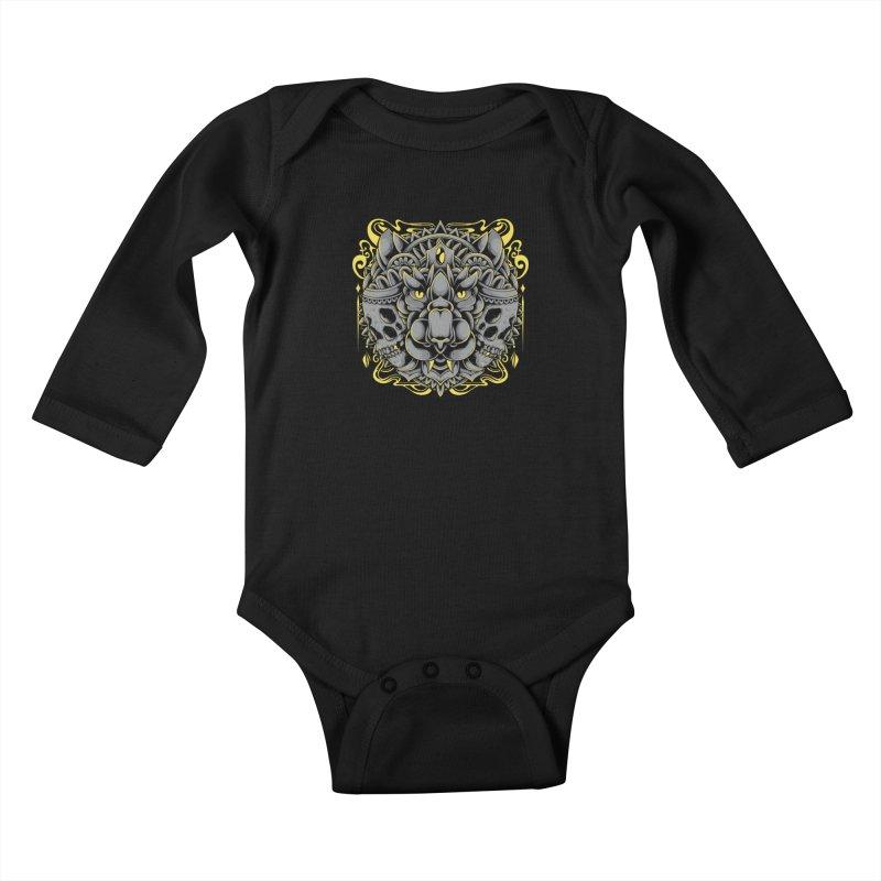 Ghost Tiger Kids Baby Longsleeve Bodysuit by godzillarge's Artist Shop