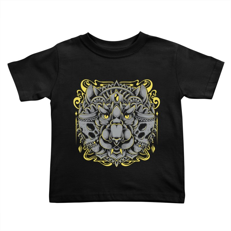 Ghost Tiger Kids Toddler T-Shirt by godzillarge's Artist Shop
