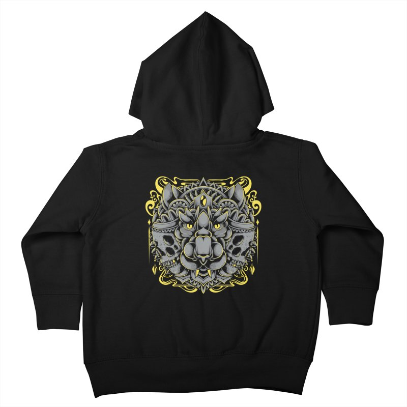 Ghost Tiger Kids Toddler Zip-Up Hoody by godzillarge's Artist Shop