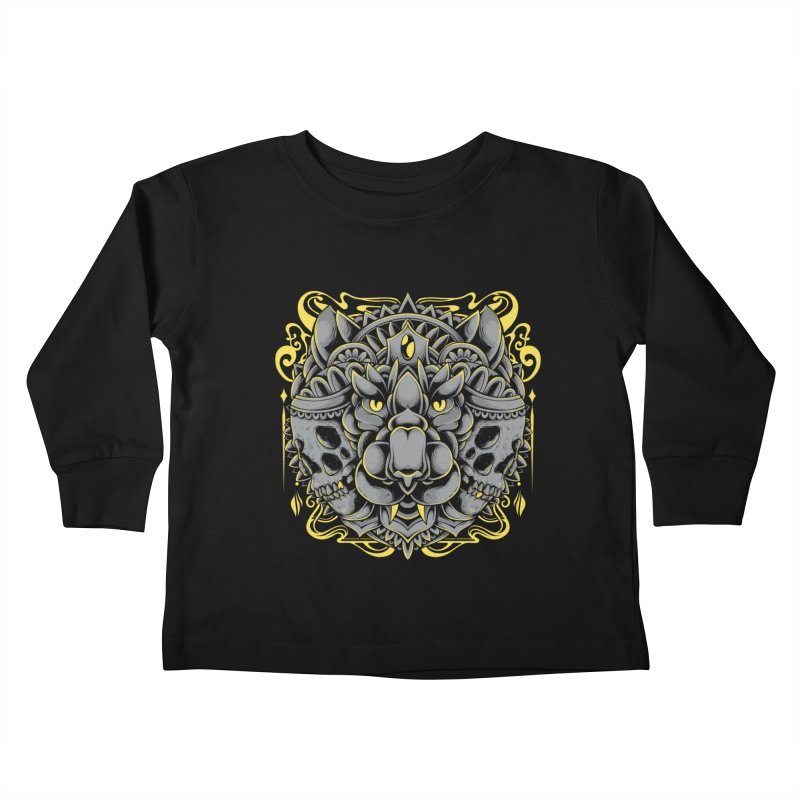 Ghost Tiger Kids Toddler Longsleeve T-Shirt by godzillarge's Artist Shop