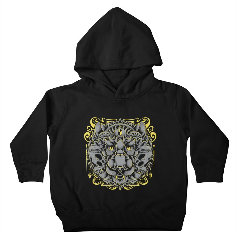 Ghost Tiger Kids Toddler Pullover Hoody by godzillarge's Artist Shop