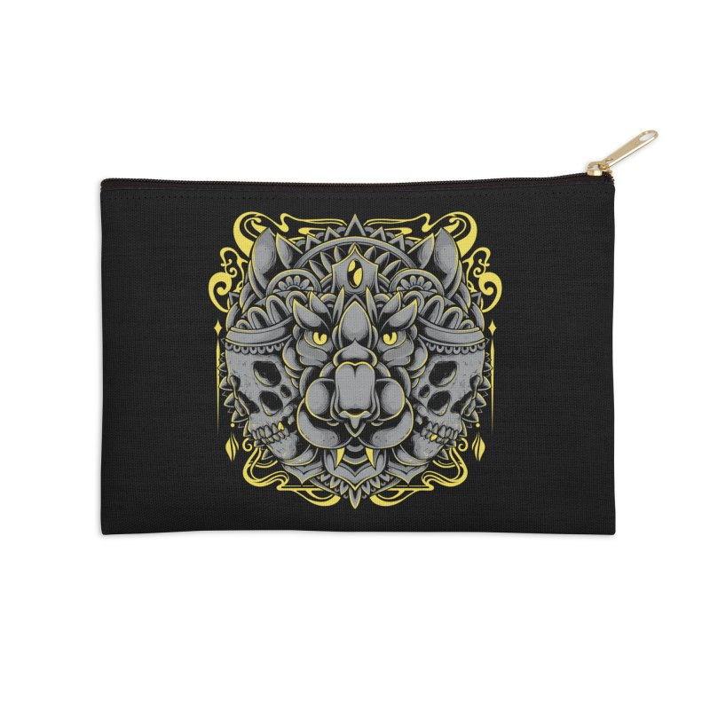 Ghost Tiger Accessories Zip Pouch by godzillarge's Artist Shop