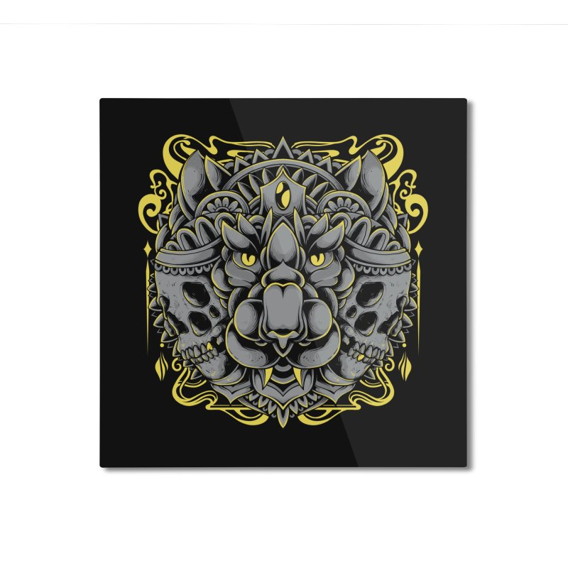 Ghost Tiger Home Mounted Aluminum Print by godzillarge's Artist Shop