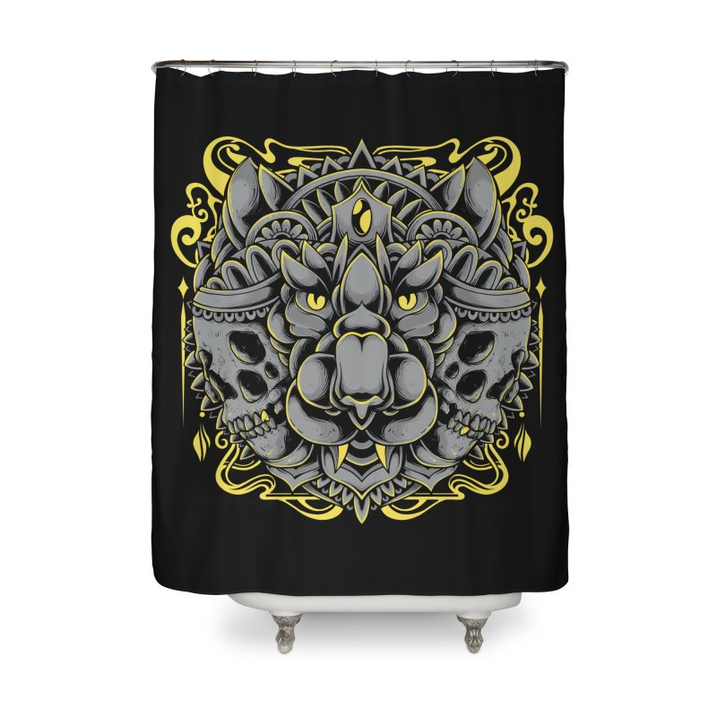 Ghost Tiger Home Shower Curtain by godzillarge's Artist Shop