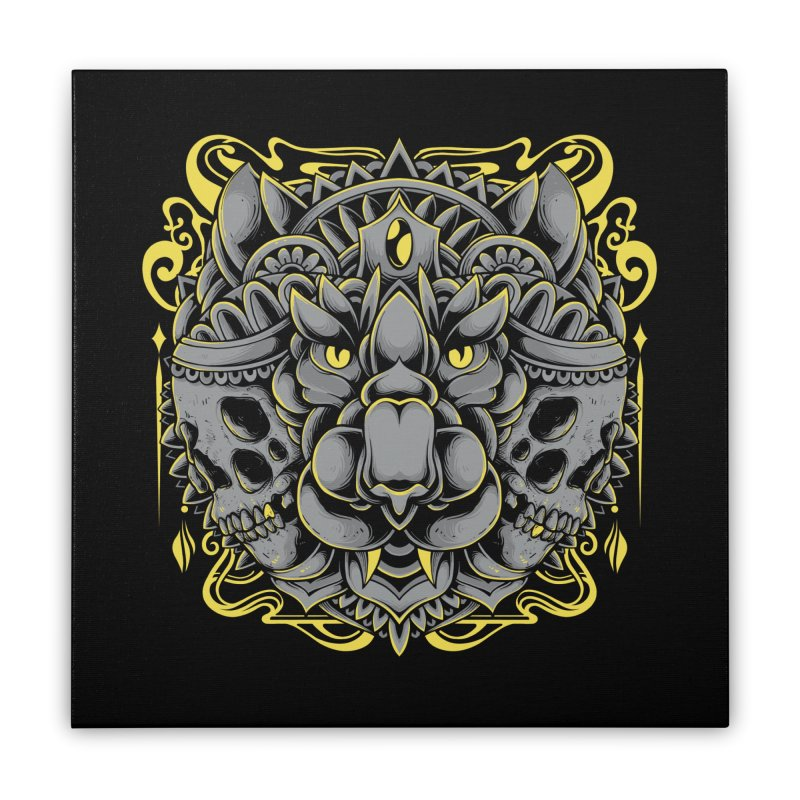 Ghost Tiger Home Stretched Canvas by godzillarge's Artist Shop