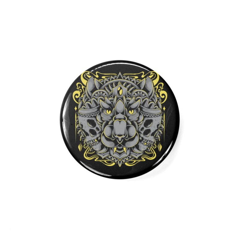 Ghost Tiger Accessories Button by godzillarge's Artist Shop