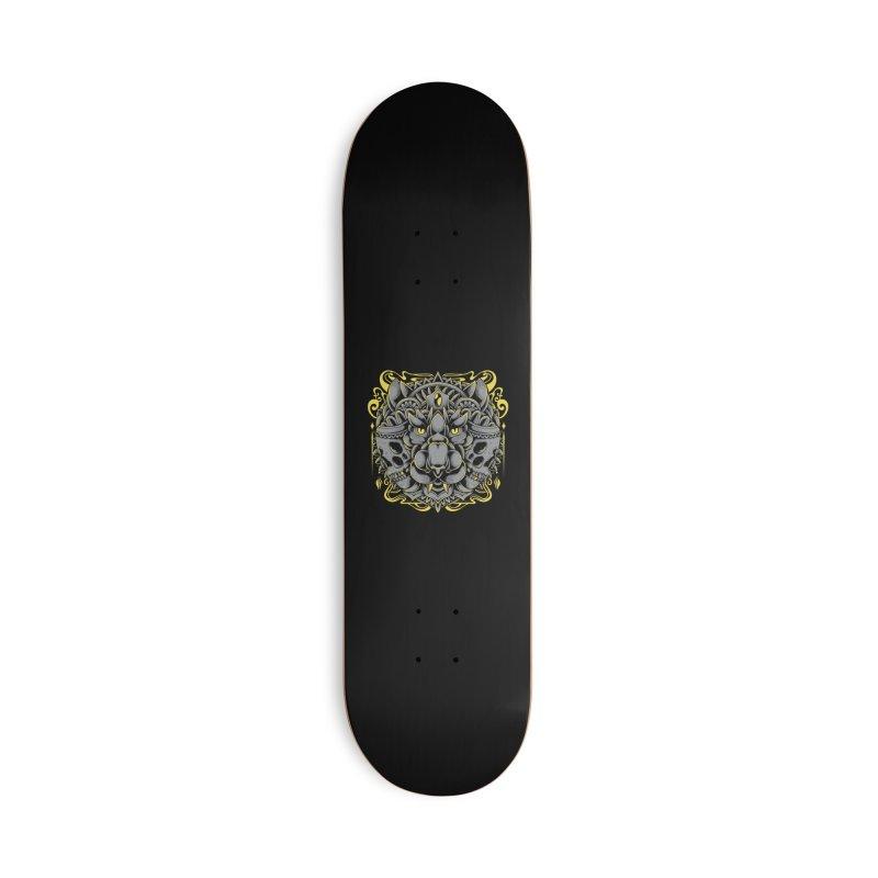 Ghost Tiger Accessories Skateboard by godzillarge's Artist Shop