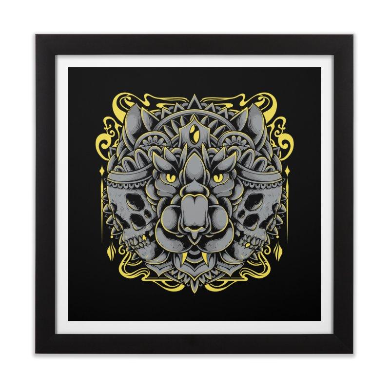 Ghost Tiger Home Framed Fine Art Print by godzillarge's Artist Shop