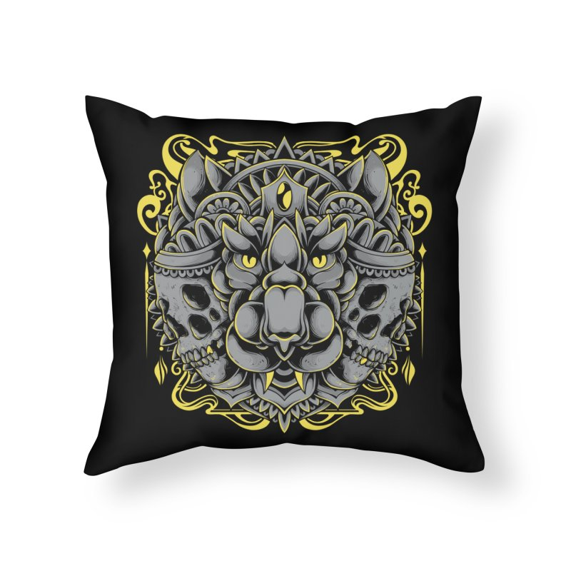 Ghost Tiger Home Throw Pillow by godzillarge's Artist Shop