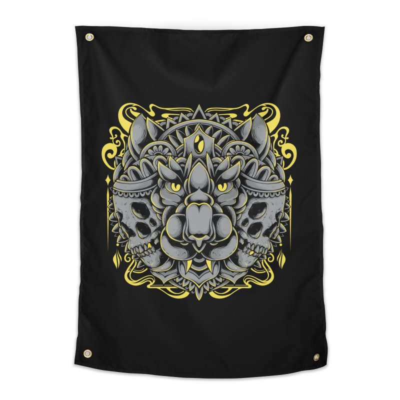 Ghost Tiger Home Tapestry by godzillarge's Artist Shop