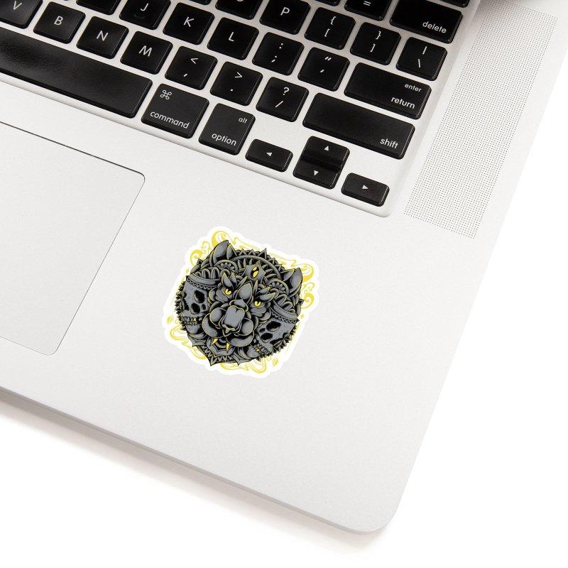 Ghost Tiger Accessories Sticker by godzillarge's Artist Shop