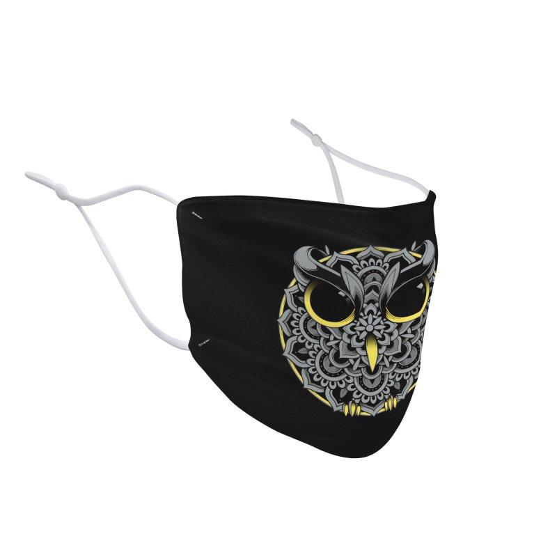 Owl Mandala Accessories Face Mask by godzillarge's Artist Shop