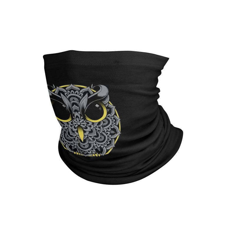 Owl Mandala Accessories Neck Gaiter by godzillarge's Artist Shop