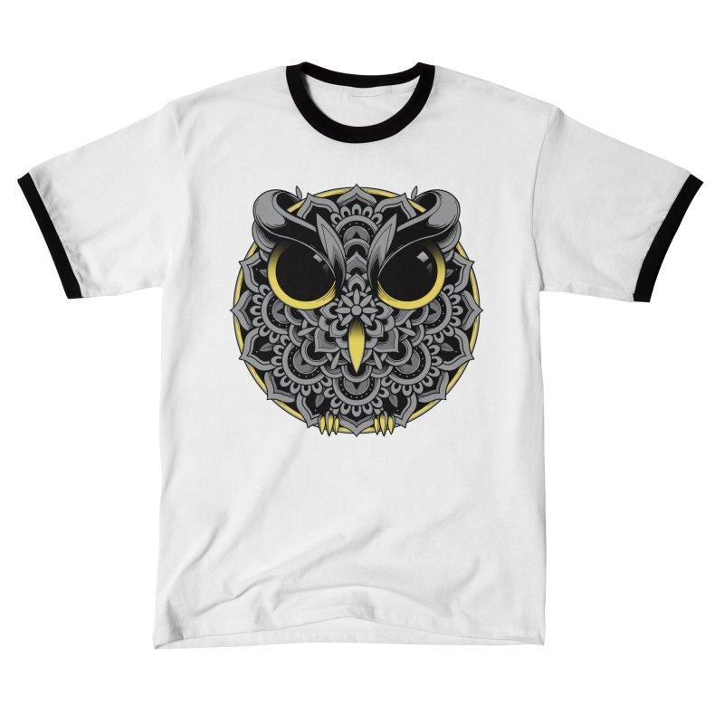 Owl Mandala Men's T-Shirt by godzillarge's Artist Shop
