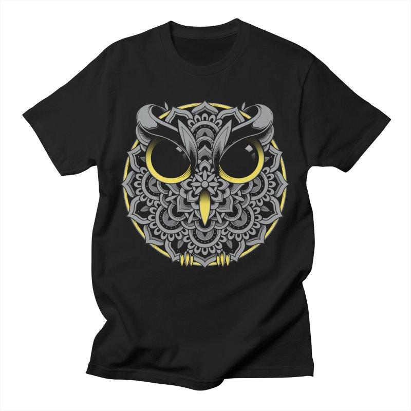 Owl Mandala Women's T-Shirt by godzillarge's Artist Shop