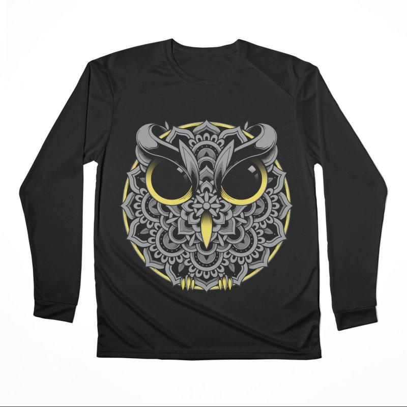 Owl Mandala Men's Longsleeve T-Shirt by godzillarge's Artist Shop