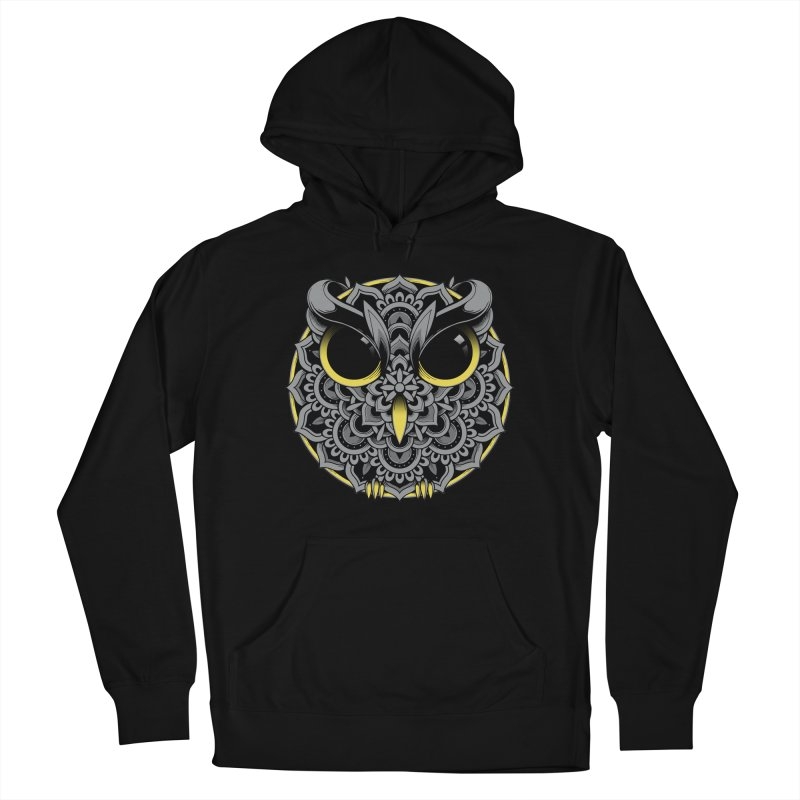 Owl Mandala Men's Pullover Hoody by godzillarge's Artist Shop