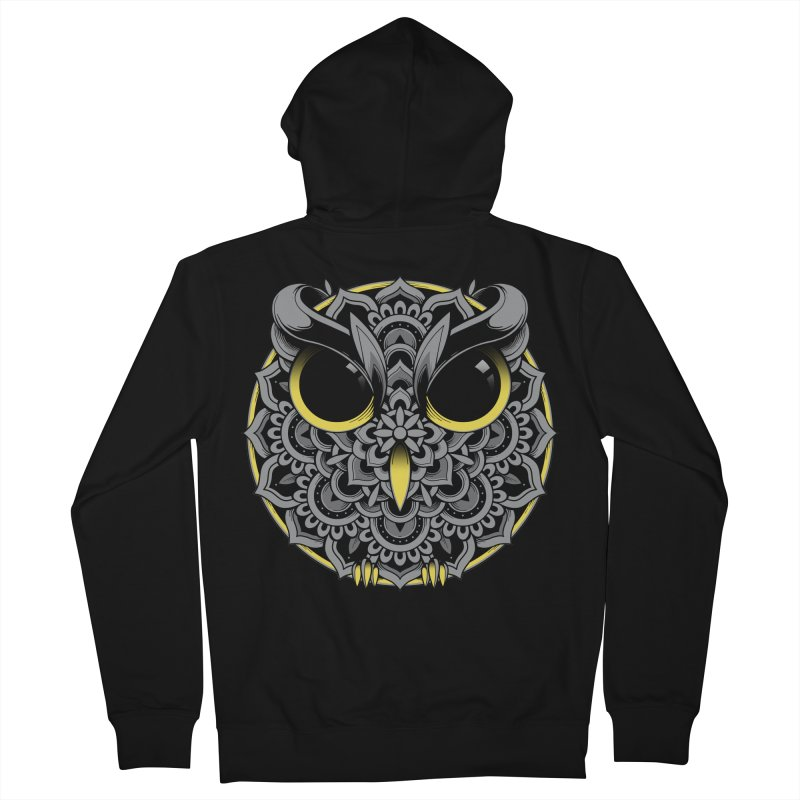 Owl Mandala Men's Zip-Up Hoody by godzillarge's Artist Shop