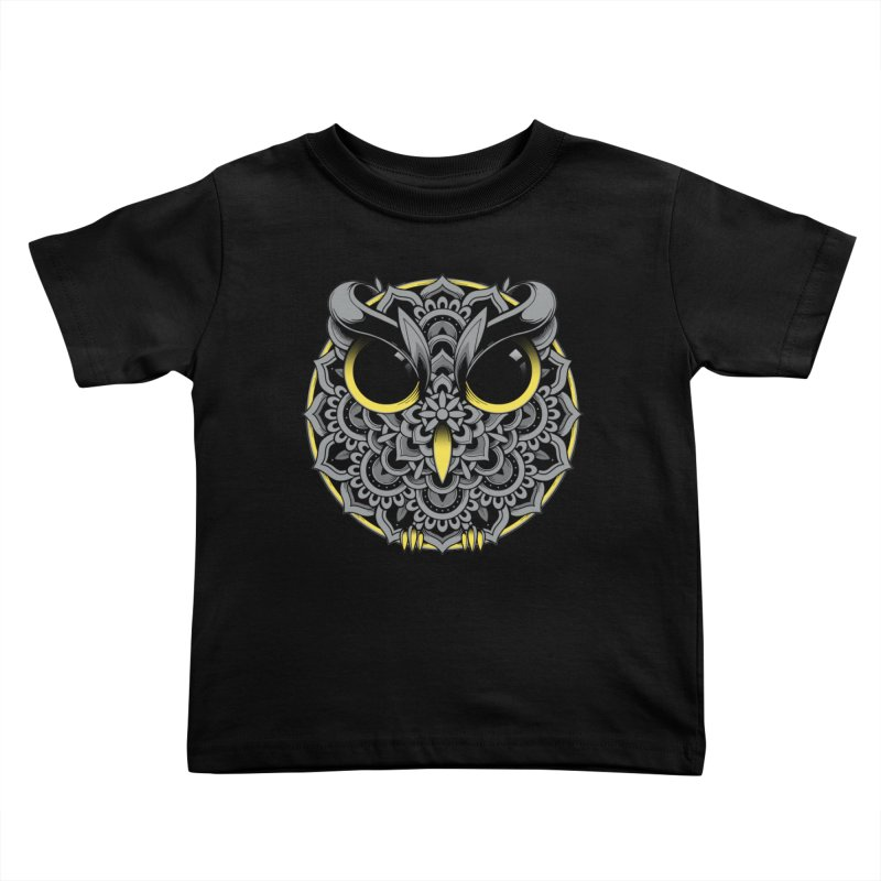 Owl Mandala Kids Toddler T-Shirt by godzillarge's Artist Shop
