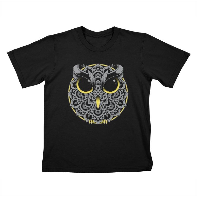 Owl Mandala Kids T-Shirt by godzillarge's Artist Shop