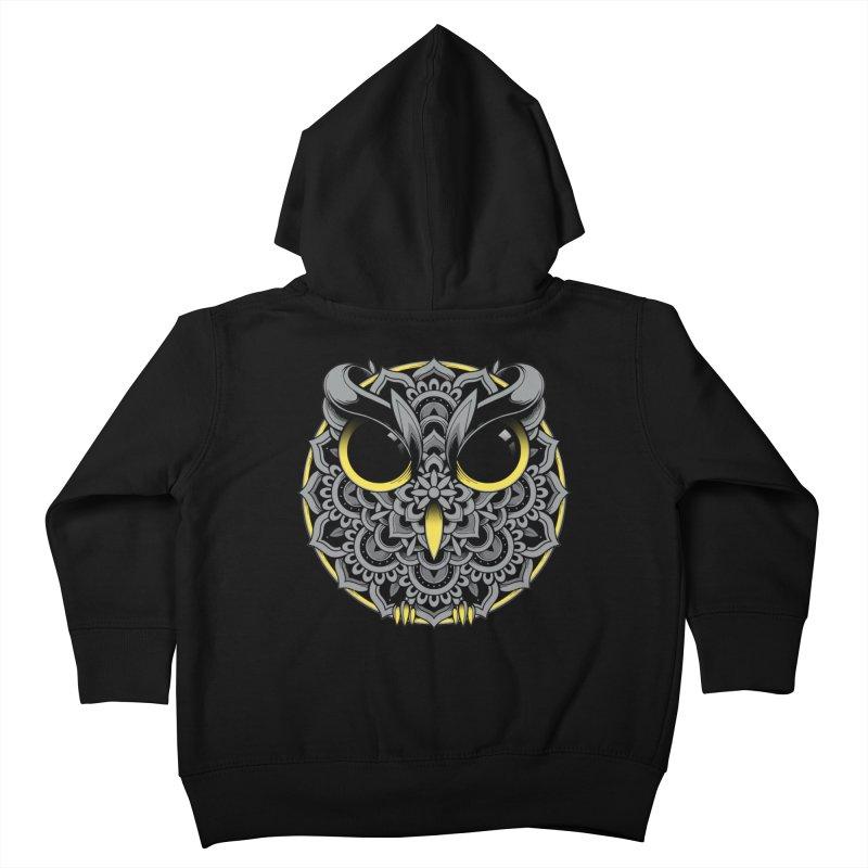 Owl Mandala Kids Toddler Zip-Up Hoody by godzillarge's Artist Shop