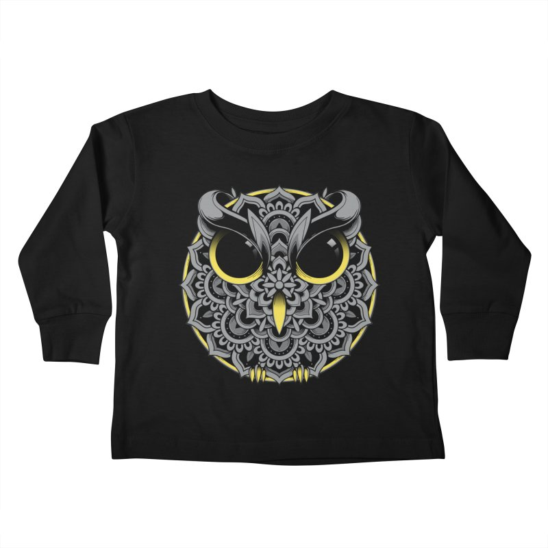Owl Mandala Kids Toddler Longsleeve T-Shirt by godzillarge's Artist Shop