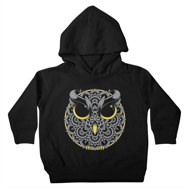 Owl Mandala Kids Toddler Pullover Hoody by godzillarge's Artist Shop