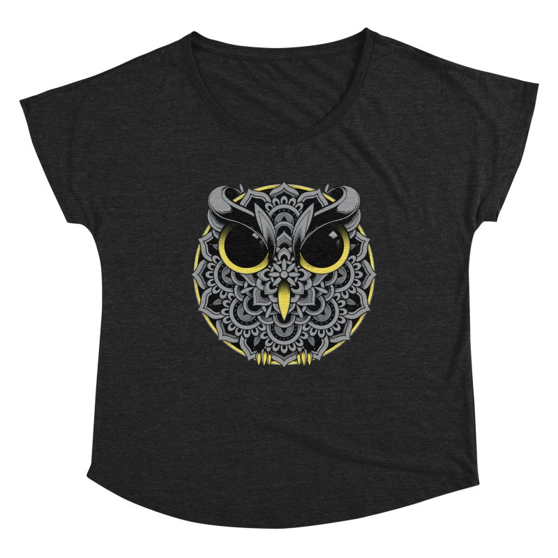 Owl Mandala Women's Scoop Neck by godzillarge's Artist Shop