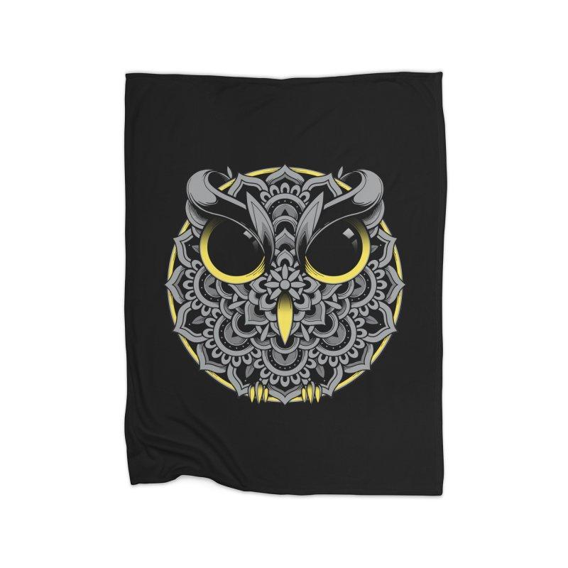Owl Mandala Home Blanket by godzillarge's Artist Shop