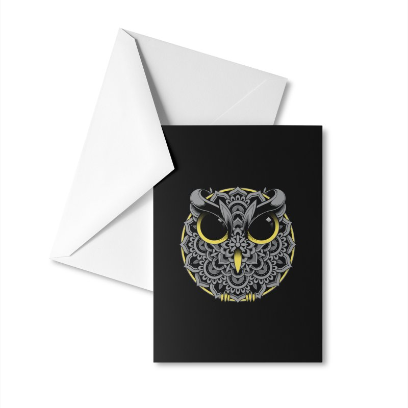 Owl Mandala Accessories Greeting Card by godzillarge's Artist Shop