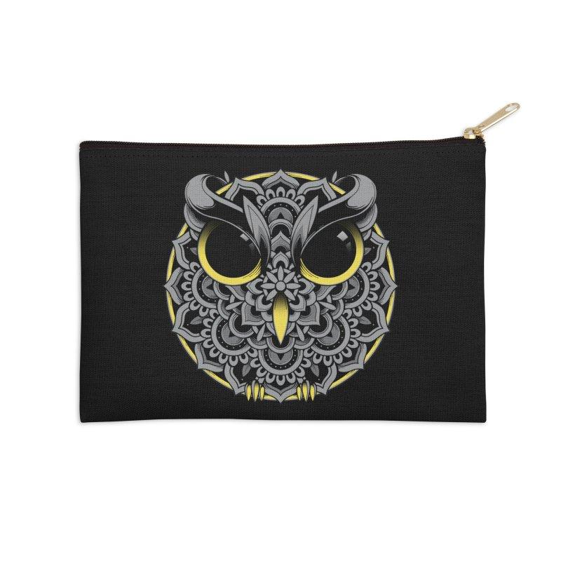 Owl Mandala Accessories Zip Pouch by godzillarge's Artist Shop