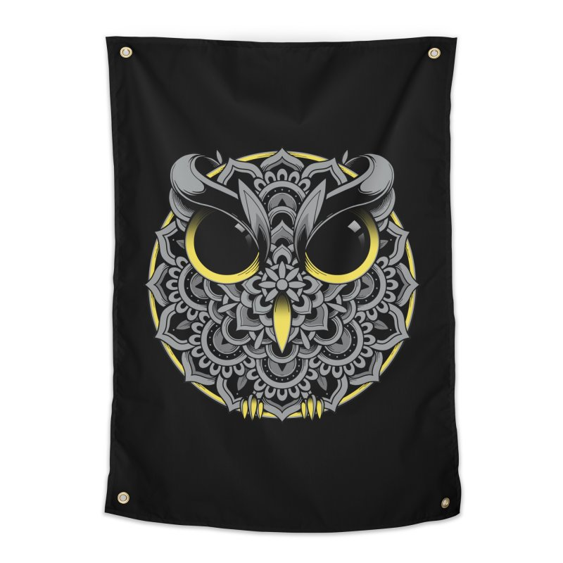 Owl Mandala Home Tapestry by godzillarge's Artist Shop