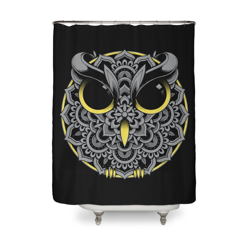 Owl Mandala Home Shower Curtain by godzillarge's Artist Shop