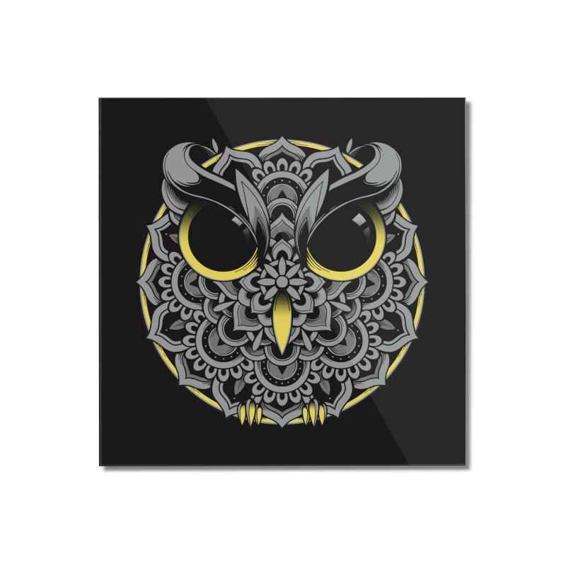 Owl Mandala Home Mounted Acrylic Print by godzillarge's Artist Shop