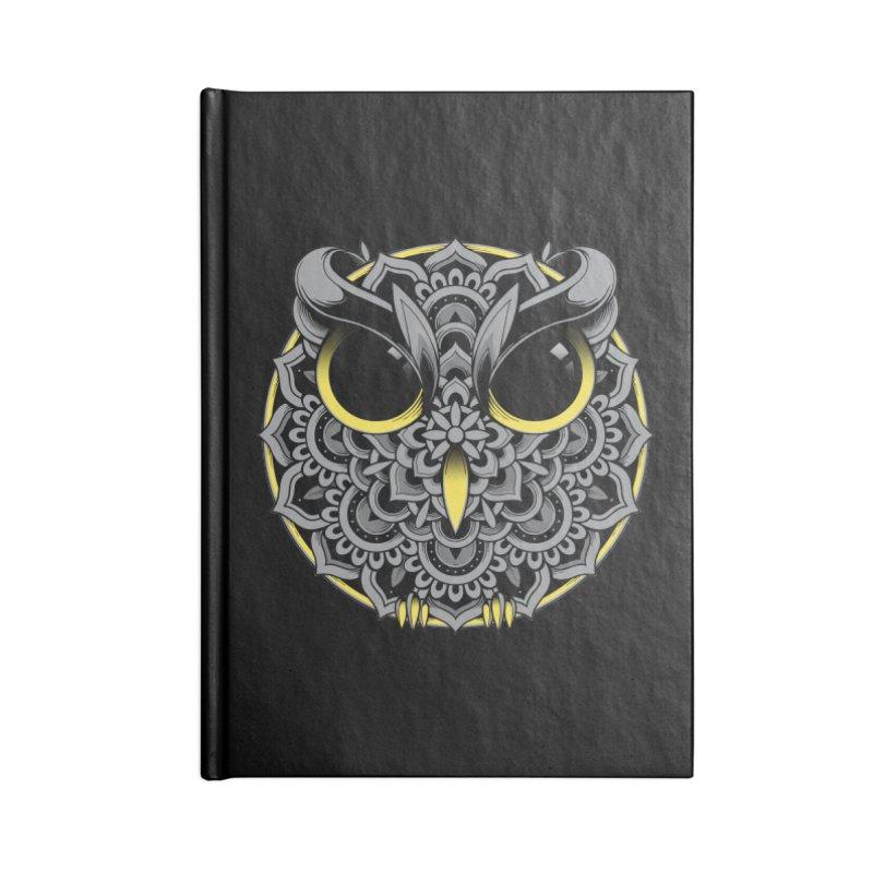 Owl Mandala Accessories Notebook by godzillarge's Artist Shop
