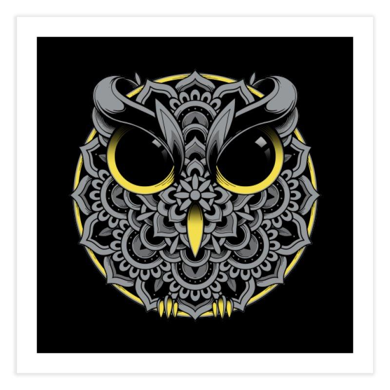 Owl Mandala Home Fine Art Print by godzillarge's Artist Shop