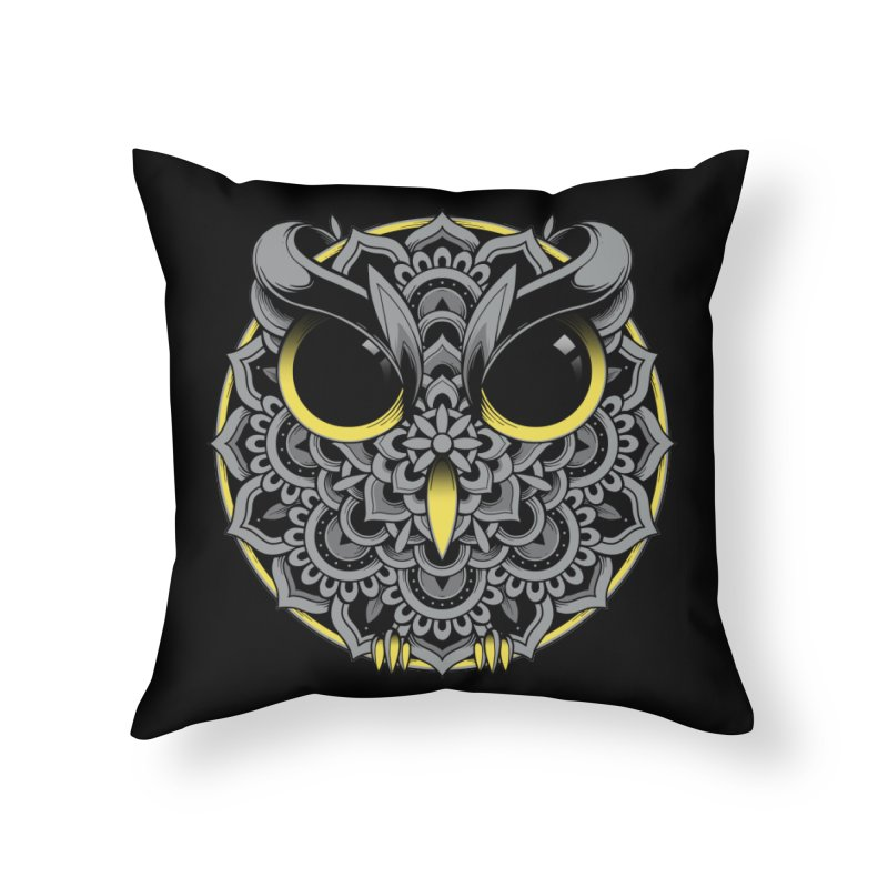 Owl Mandala Home Throw Pillow by godzillarge's Artist Shop