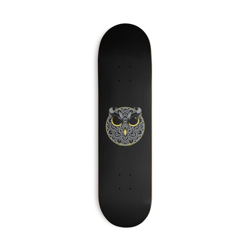 Owl Mandala Accessories Skateboard by godzillarge's Artist Shop