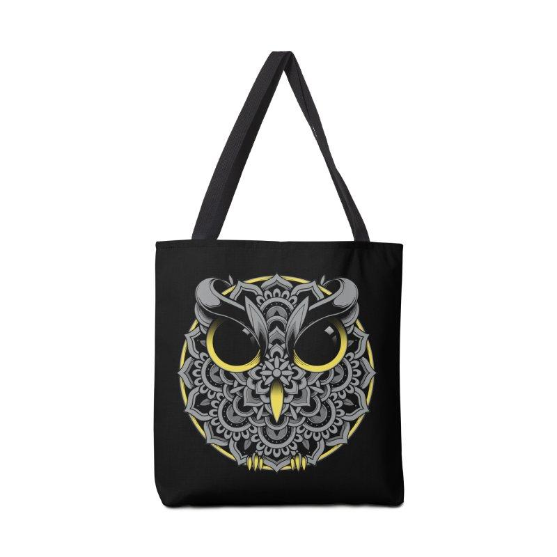 Owl Mandala Accessories Bag by godzillarge's Artist Shop