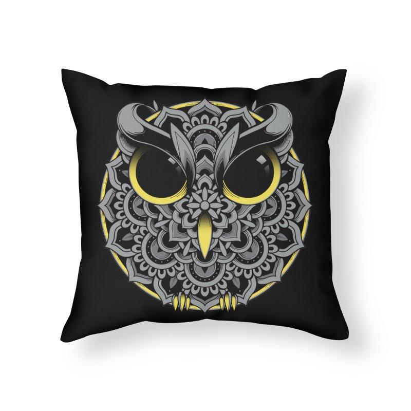 Owl Mandala Home Throw Pillow by godzillarge's Artist Shop