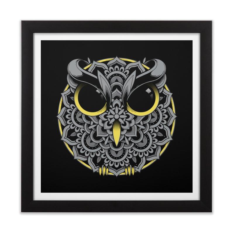 Owl Mandala Home Framed Fine Art Print by godzillarge's Artist Shop