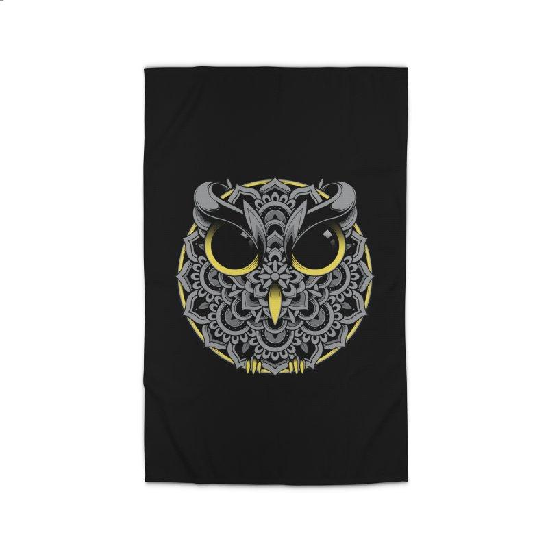 Owl Mandala Home Rug by godzillarge's Artist Shop