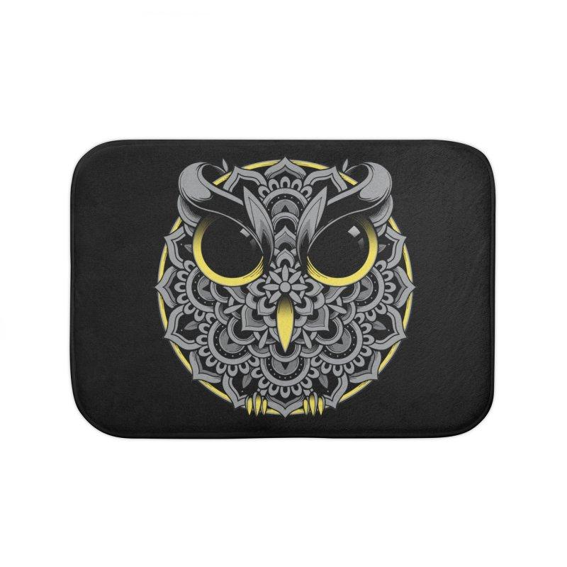 Owl Mandala Home Bath Mat by godzillarge's Artist Shop