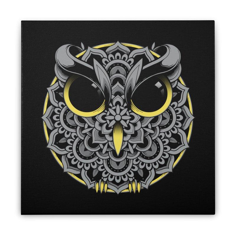 Owl Mandala Home Stretched Canvas by godzillarge's Artist Shop