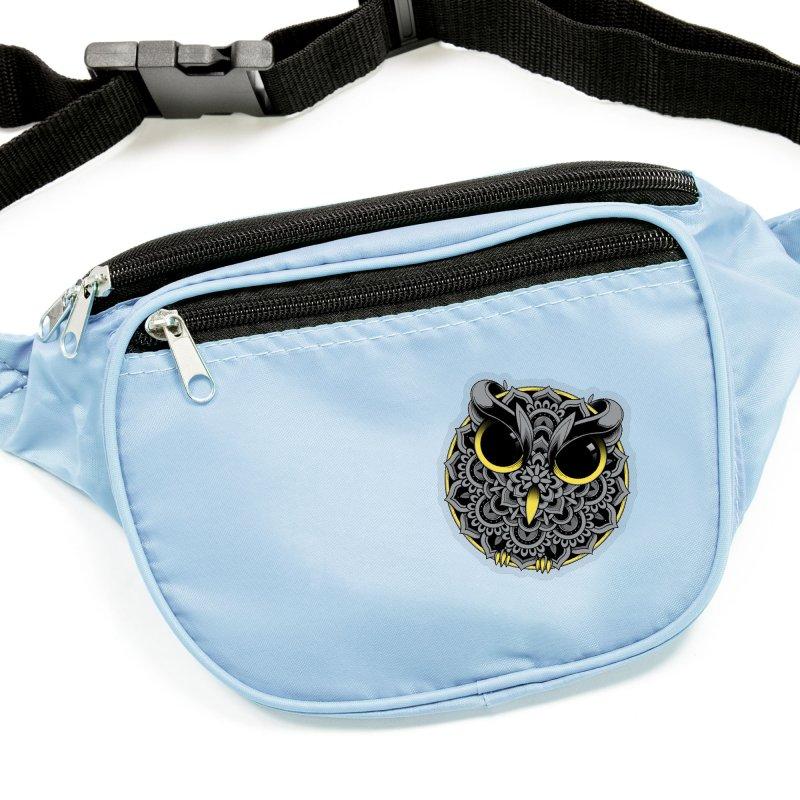 Owl Mandala Accessories Sticker by godzillarge's Artist Shop