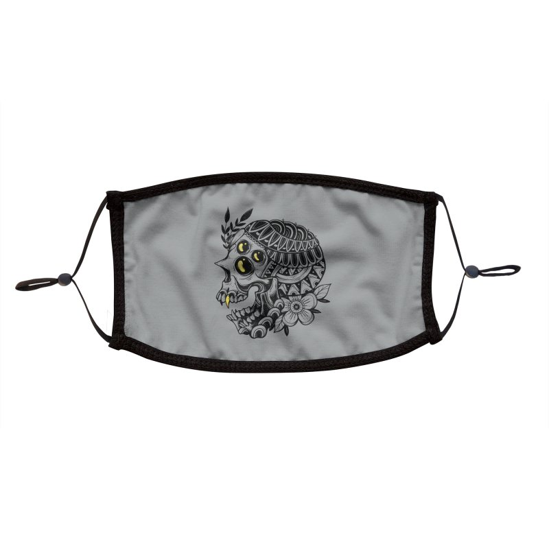 Botanical Skull Accessories Face Mask by godzillarge's Artist Shop